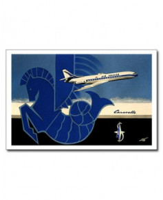 Carte postale Jean-Pierre CONDAT - La Caravelle d'Air France