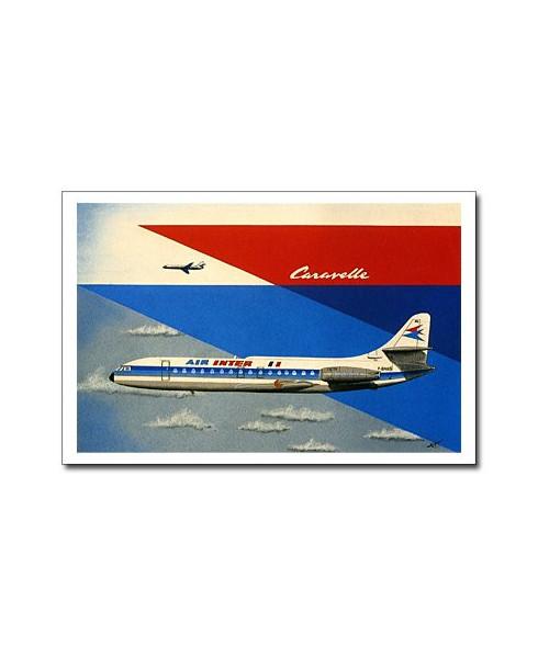 Carte postale Jean-Pierre CONDAT - La Caravelle d'Air Inter