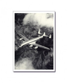 Carte postale noir et blanc - 77 - Lockheed L749 Constellation