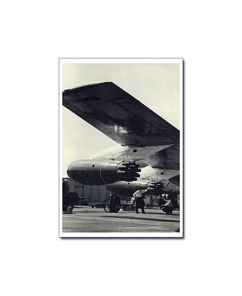 Carte postale noir et blanc - 61 - Silencieux, réacteur de Boeing 707