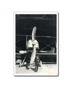Carte postale noir et blanc - 33 - Farman, Monomoteur 600 cv