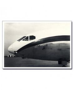 Carte postale noir et blanc - 07 - Pointe avant de Caravelle
