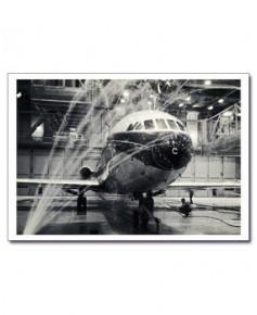Carte postale noir et blanc - 41 - Caravelle, salle de douche