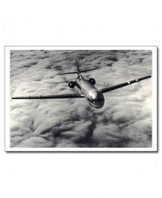 Carte postale noir et blanc - 46 - Caravelle Horizon