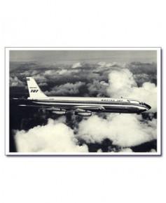 Carte postale noir et blanc - 60 - Boeing 707