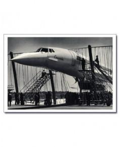 Carte postale noir et blanc - 45 - Concorde dans les filets
