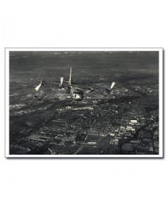 Carte postale noir et blanc - 02 - Breguet 941, Survol de Toulouse