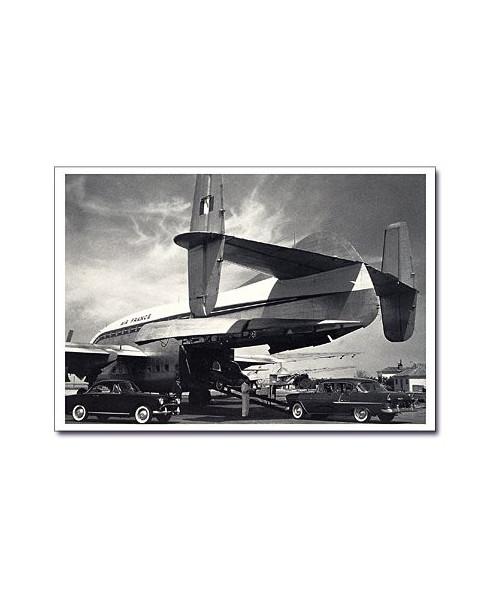 Carte postale noir et blanc - 22 - Breguet 763, deux ponts