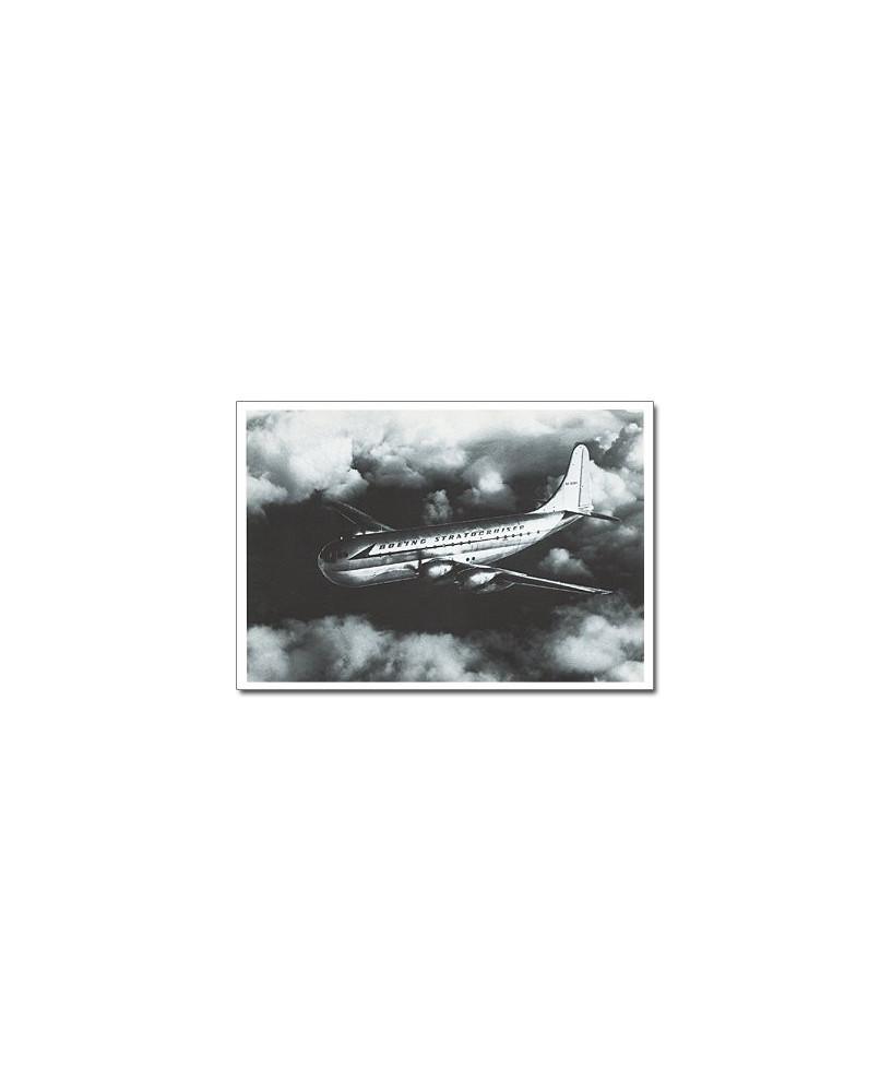 Carte postale noir et blanc - 18 - Boeing 377 Stratocruiser