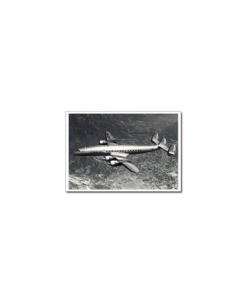 Carte postale noir et blanc - 26 - Lockheed Super Constellation