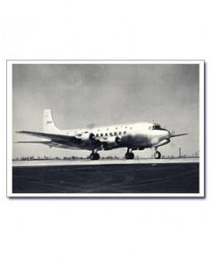 Carte postale noir et blanc - 13 - Douglas DC6