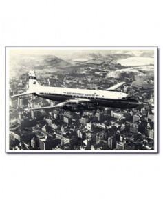 Carte postale noir et blanc - 16 - Douglas DC7
