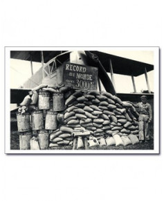 Carte postale noir et blanc - 39 - Record du Monde, Farman 1924