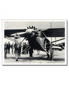 Carte postale noir et blanc - 42 - Spirit of Saint-Louis, Lindbergh