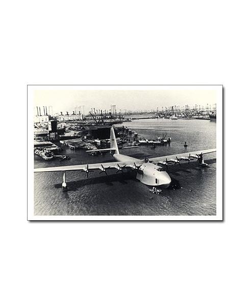 Carte postale noir et blanc - 32 - Spruce Goose, Howard Hughes