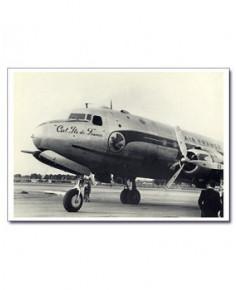 Carte postale noir et blanc - 62 - DC4 Air France