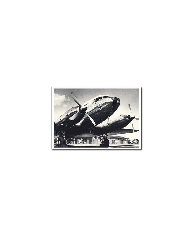 Carte postale noir et blanc - 15 - Douglas DC3
