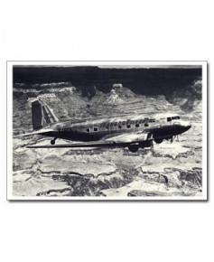 Carte postale noir et blanc - 47 - Douglas DC3