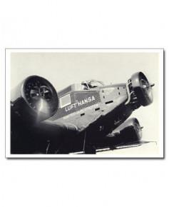 Carte postale noir et blanc - 64 - Junker 52-3M
