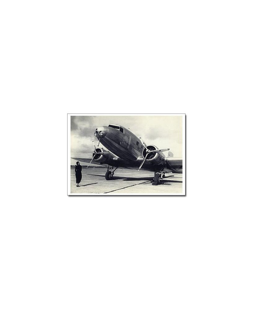 Carte postale noir et blanc - 50 - Douglas DC2