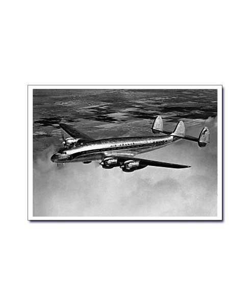 Carte postale noir et blanc - 24 - Lockheed Constellation