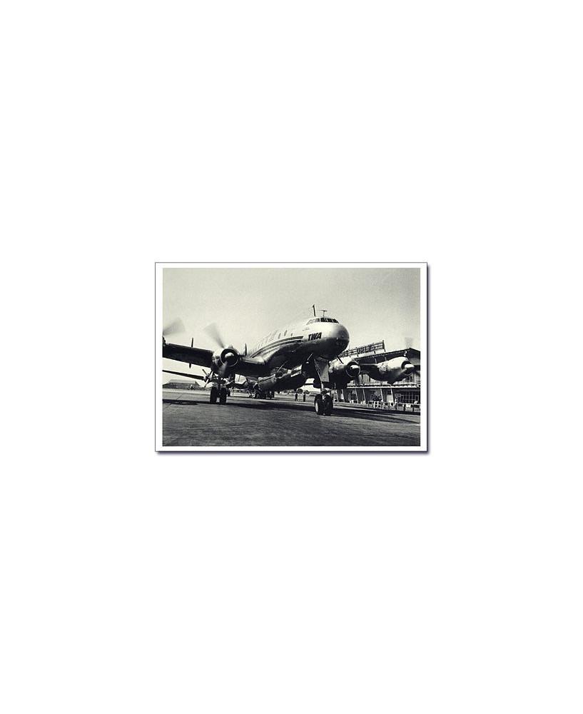 Carte postale noir et blanc - 48 - Constellation, Paris Orly