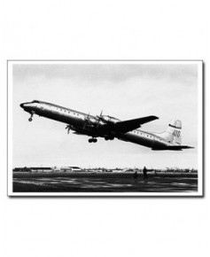 Carte postale noir et blanc - 27 - Canadair CL44