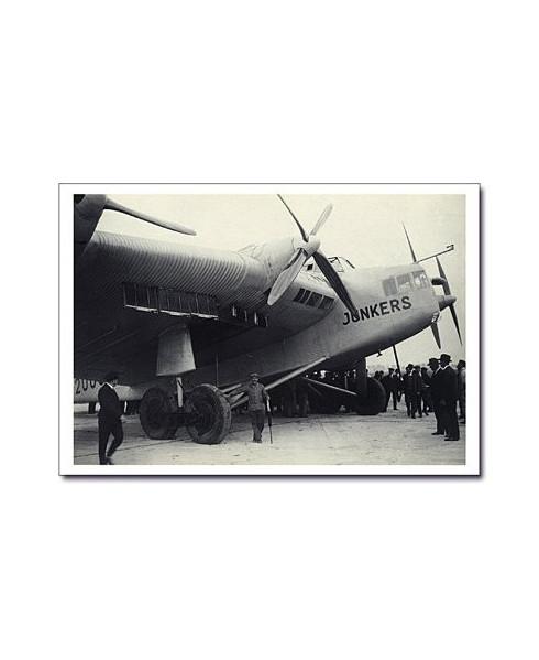 Carte postale noir et blanc - 65 - Junker G38