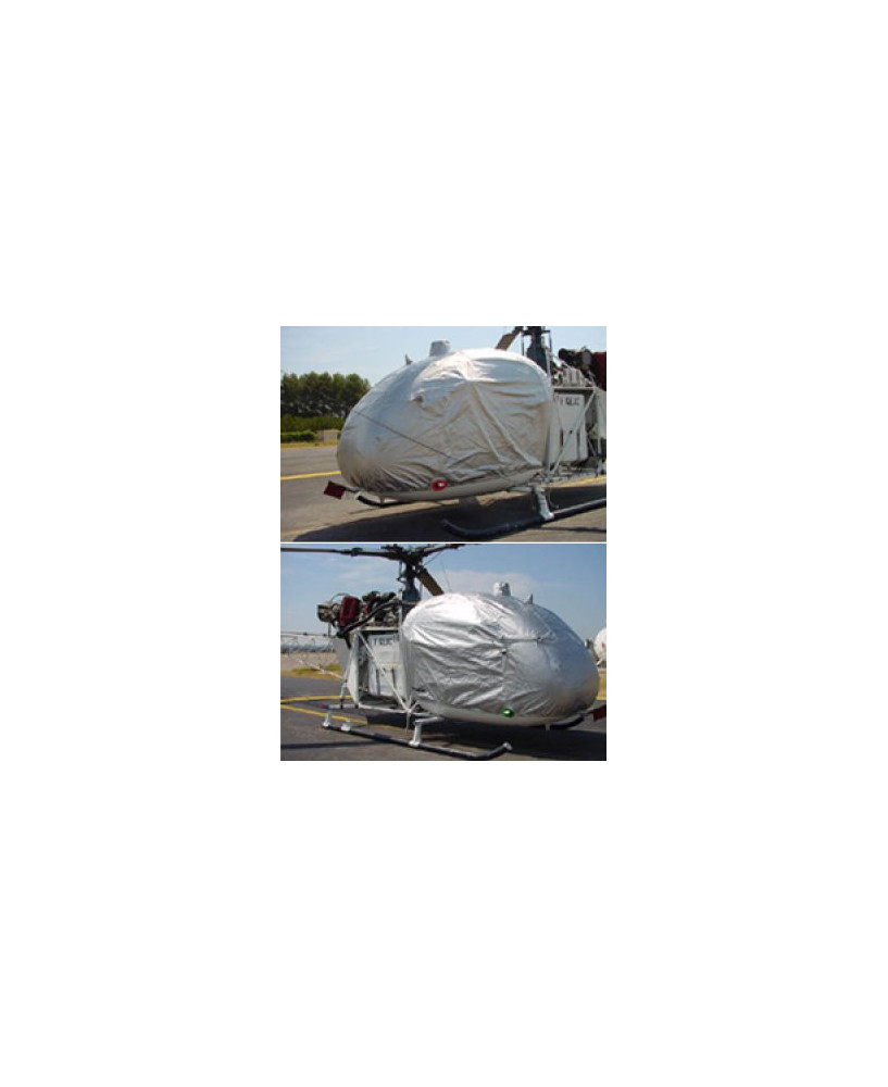 Bâche hélicoptère finition Eco-light Plus verrière pour Alouette II