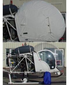 Bâche hélicoptère finition Eco-light Top verrière pour Bell 47