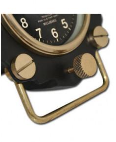 Horloge de bureau altimètre en aluminium et laiton