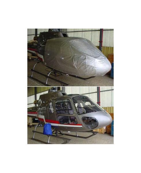 Bâche hélicoptère finition Eco-light Top verrière pour Ecureuil AS350