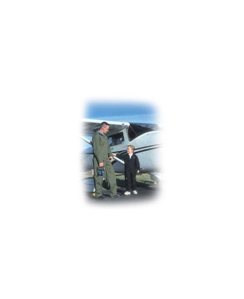 Combinaison de vol vert olive L