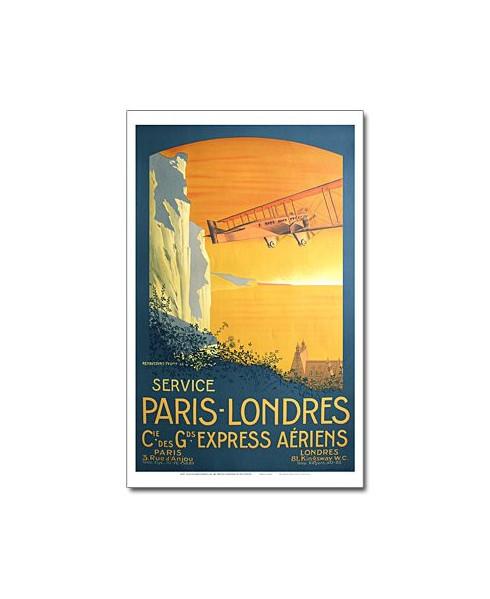 Affiche Air France, Service Paris-Londres