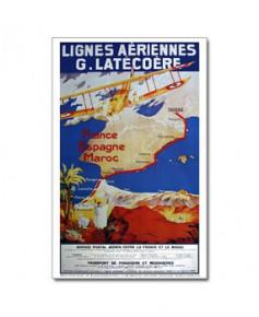 Affiche Lignes aériennes Latécoère