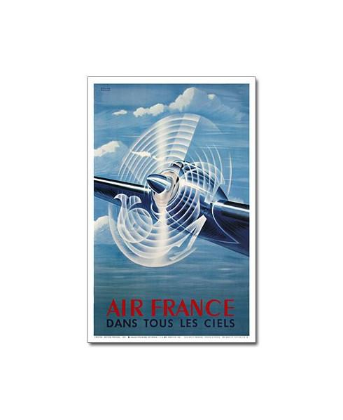 Affiche Air France, Dans tous les ciels