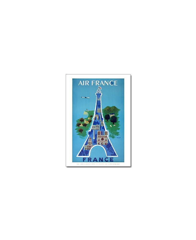 Affiche Air France, Paris - Tour Eiffel (petit modèle)