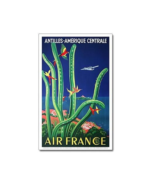 Affiche Air France, Antilles - Amérique Centrale