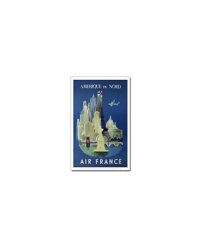 Affiche Air France, Amérique du Nord
