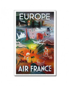 Affiche Air France, Europe