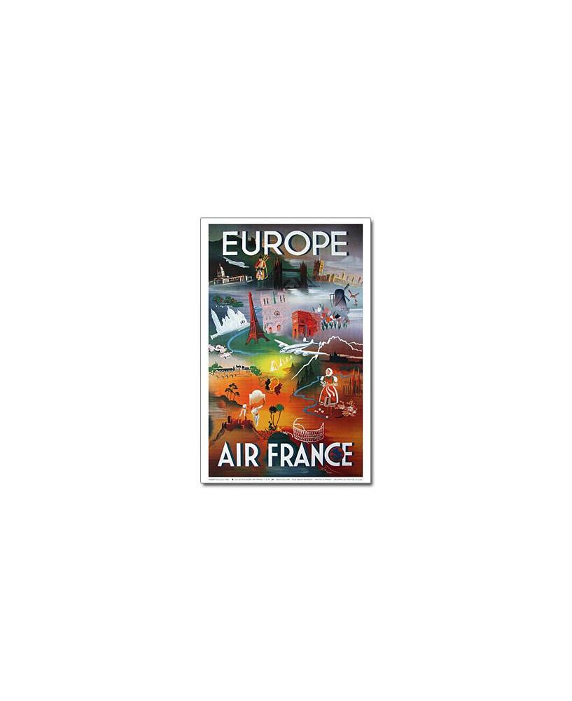 Affiche Air France, Europe