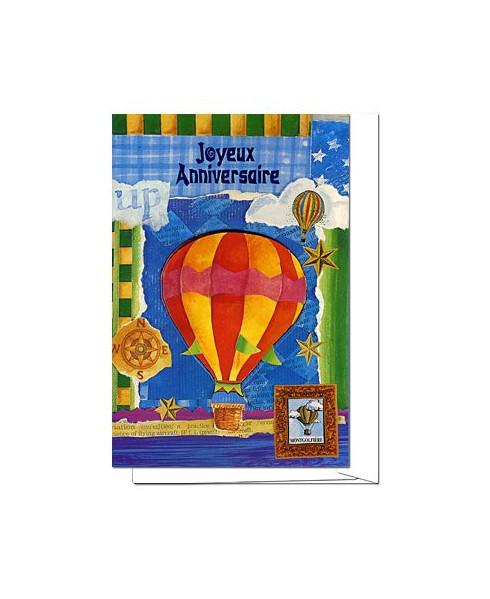 Carte Joyeux Anniversaire montgolfière