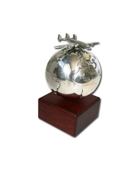 Presse-papier Globe Constellation en étain massif Serge LEIBOVITZ