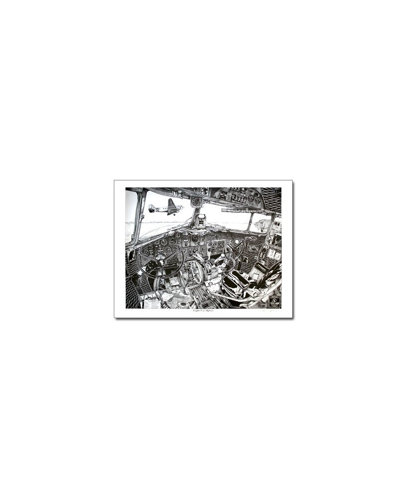 Illustration Douglas Dakota DC3 / C47 - Tableau de bord