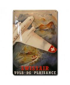 Plaque décorative en relief Swissair (20 x 30 cm)