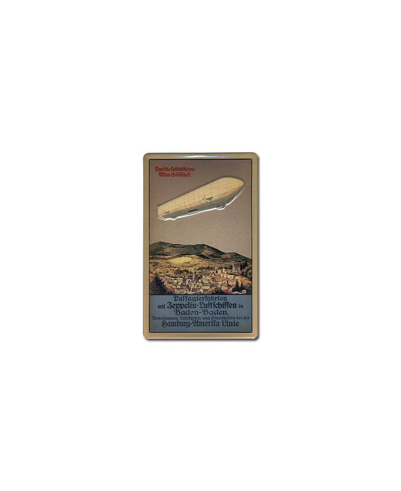 Plaque décorative en relief Zeppelin Baden-Baden (20 x 30 cm)