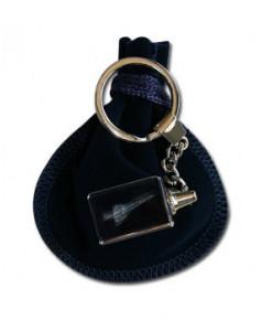 Porte-clés bloc de verre Concorde
