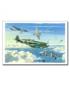 Carte postale Benjamin FREUDENTHAL - Spitfire Mk IX (Le grand cirque, Pierre Clostermann)