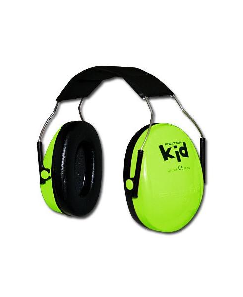 Casque anti-bruit pour enfant - vert fluo