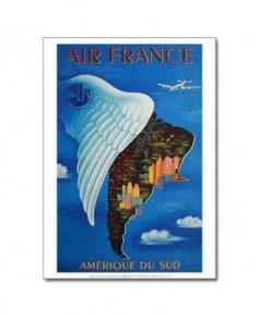 Affiche Air France, Amérique du Sud (petit modèle)